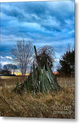 The Woodstack Metal Print by Julie Dant
