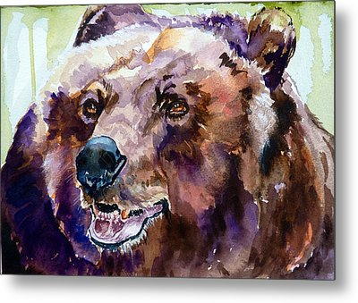 This Is Me Smiling Metal Print by P Maure Bausch
