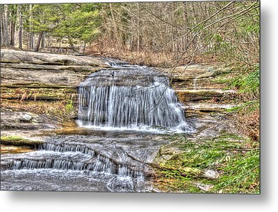 Top Of The Upper Falls Metal Print by Shirley Tinkham