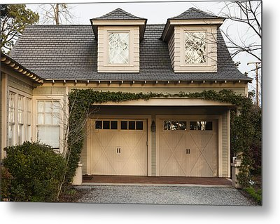 Traditional Residential Home And Double Metal Print by Roberto Westbrook