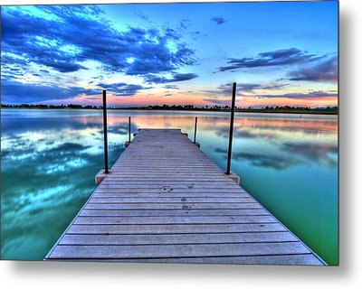Tranquil Dock Metal Print by Scott Mahon