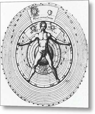Utrisque Cosmi, Title Page, 1617 Metal Print by Science Source