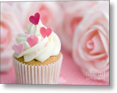 Valentine Cupcake Metal Print by Ruth Black