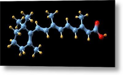 Vitamin A (retinoic Acid) Molecule Metal Print by Dr Mark J. Winter
