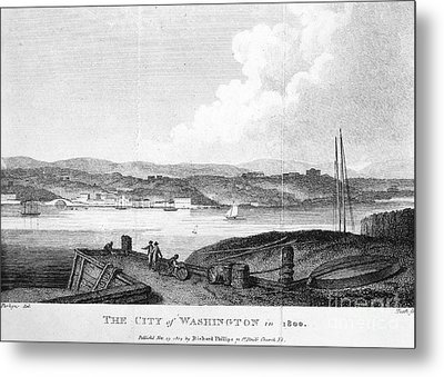 Washington, D.c., 1800 Metal Print by Granger