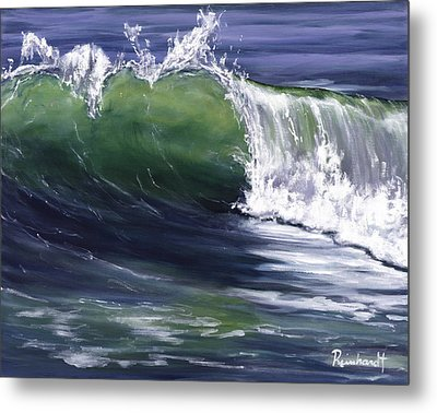 Wave 8 Metal Print by Lisa Reinhardt