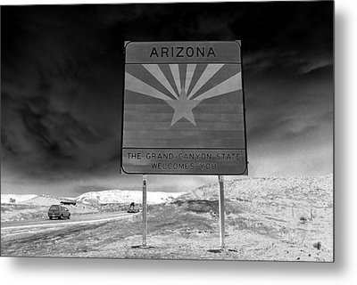 Welcome Sign Metal Print by David Lee Thompson