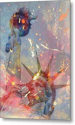 Welcome To New York Metal Print by Steve K