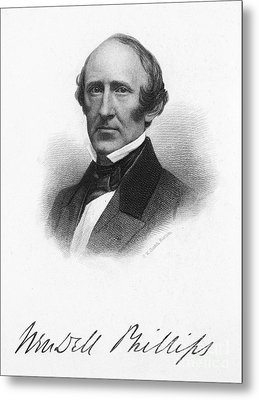 Wendell Phillips (1811-1884) Metal Print by Granger