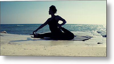 Yoga Metal Print by Stelios Kleanthous