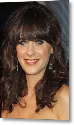 Zooey Deschanel At Arrivals For The Metal Print by Everett