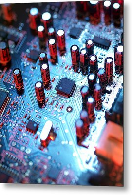 Circuit Board Metal Print by Tek Image