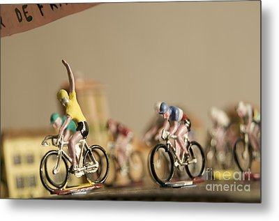 Cyclists Metal Print by Bernard Jaubert