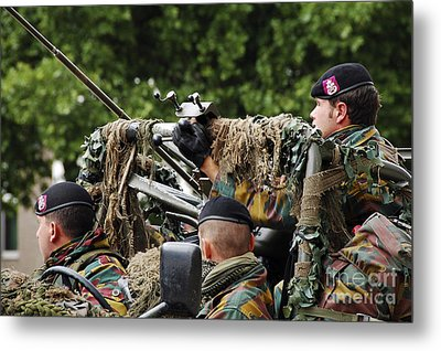 A Recce Or Scout Team Of The Belgian Metal Print by Luc De Jaeger