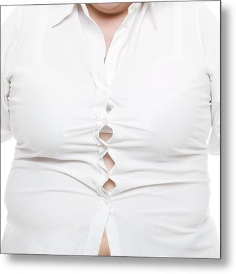 Overweight Woman Metal Print by