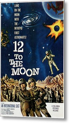 12 To The Moon, 1960 Metal Print by Everett