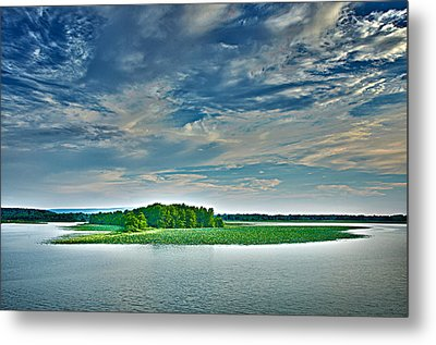 1206-9119 Arkansas River At Spadra Park  Metal Print by Randy Forrester