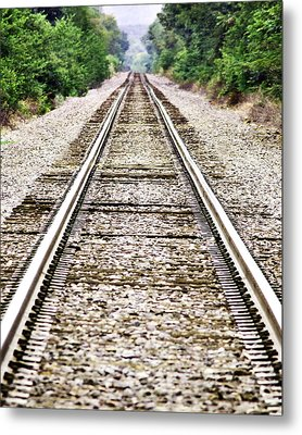 1207-9507 Train Tracks At Knoxville Metal Print by Randy Forrester