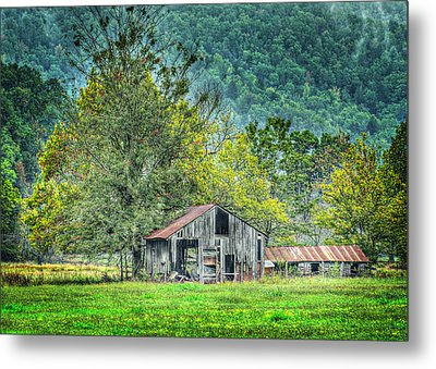 1209-1298 - Boxley Valley Barn 2 Metal Print by Randy Forrester