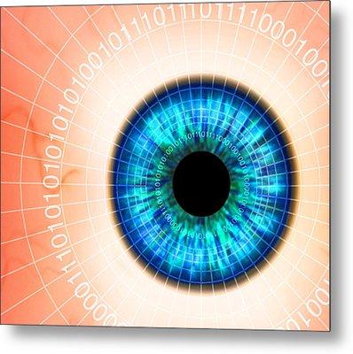 Biometric Eye Scan Metal Print by Pasieka