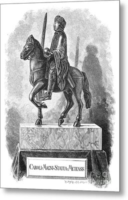 Charlemagne (742-814) Metal Print by Granger