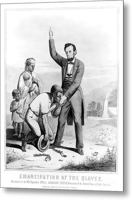 Emancipation Proclamation Metal Print by Granger