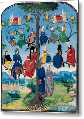 15th-century Family Tree Metal Print by Photo Researchers