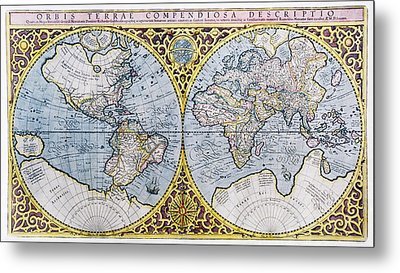 16th Century World Map Metal Print by Georgette Douwma
