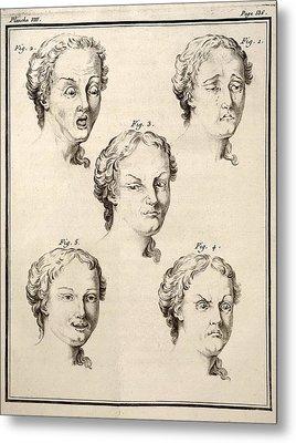 1749 Human Emotions And Expression Buffon Metal Print by Paul D Stewart