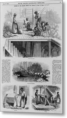 1869 Illustration Show Ex-slaves, Now Metal Print by Everett