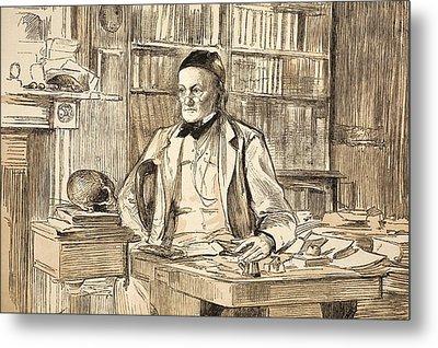 1883 Richard Owen's Study Ex Bmnh Metal Print by Paul D Stewart