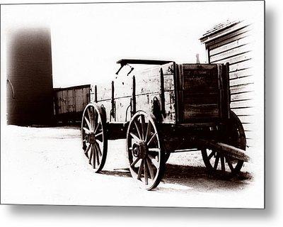 1900 Wagon Metal Print by Marcin and Dawid Witukiewicz