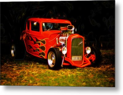 1932 Ford Coupe Hot Rod Metal Print by Phil 'motography' Clark