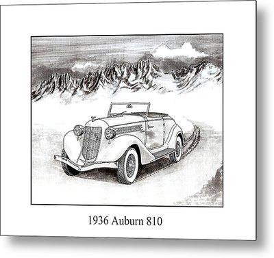 1936 Auburn 810 Metal Print by Jack Pumphrey