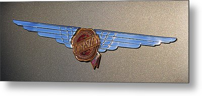 1937 Chrysler Airflow Emblem Metal Print by Gordon Dean II