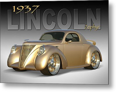 1937 Lincoln Zephyr Metal Print by Mike McGlothlen