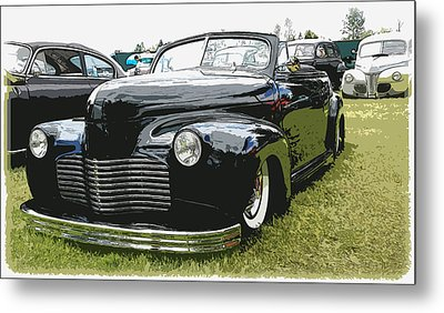 1940 Chevy Convertable Metal Print by Steve McKinzie