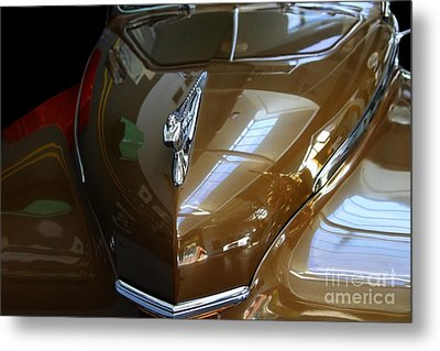 1947 Desoto Suburban . Front View Metal Print by Wingsdomain Art and Photography