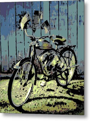 1947 Whizzer Metal Print by George Pedro