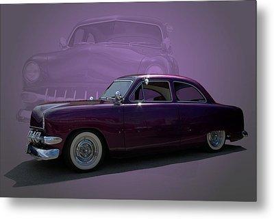 1950 Custom Ford Street Rod Metal Print by Tim McCullough