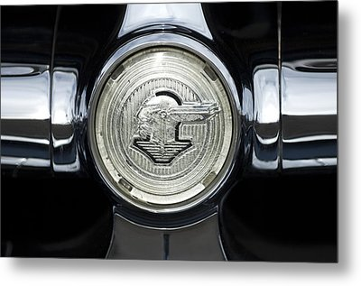 1950 Pontiac Grille Emblem 2 Metal Print by Jill Reger