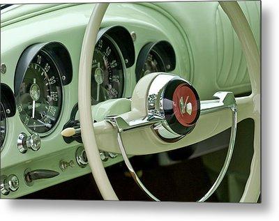 1954 Kaiser Darrin Steering Wheel Metal Print by Jill Reger