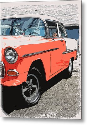 1955 Chevy Metal Print by Steve McKinzie