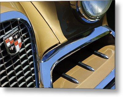 1957 Studebaker Golden Hawk Hardtop Grille Emblem Metal Print by Jill Reger