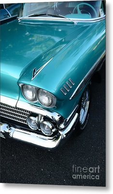 1958 Chevy Belair Front End 01 Metal Print by Paul Ward
