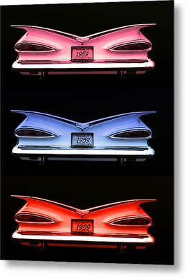 1959 Chevrolet Eyebrow Tail Lights Metal Print by Tim McCullough