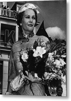 1959 Us Presidency.  Second Lady Metal Print by Everett