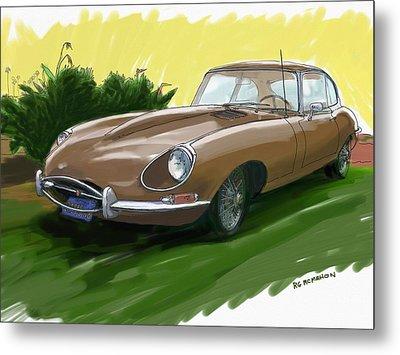 1966 Jaguar Xke Metal Print by RG McMahon
