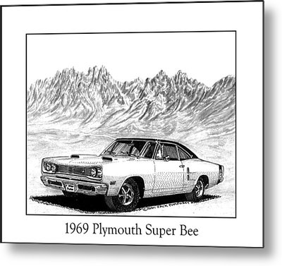 1969 Plymouth Super Bee Metal Print by Jack Pumphrey