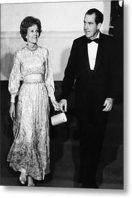 1969 Us Presidency.  First Lady Metal Print by Everett